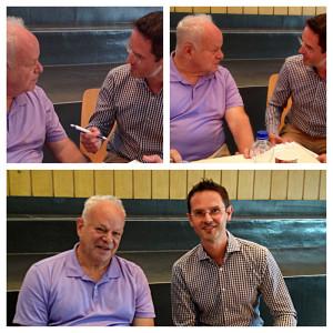 Dr. Markus Ebner mit Dr. Martin Seligman (dem Begründer der Positiven Psychologie) am Kongress an der Universität Berlin 2014