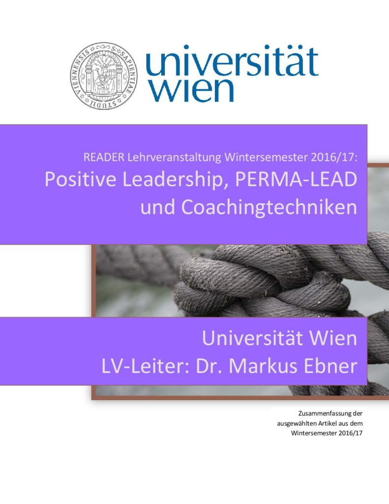 Positive Leadership und PERMA